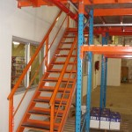 rack supported mezzanine with office