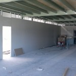structural mezzanine floor and partitioning under construction